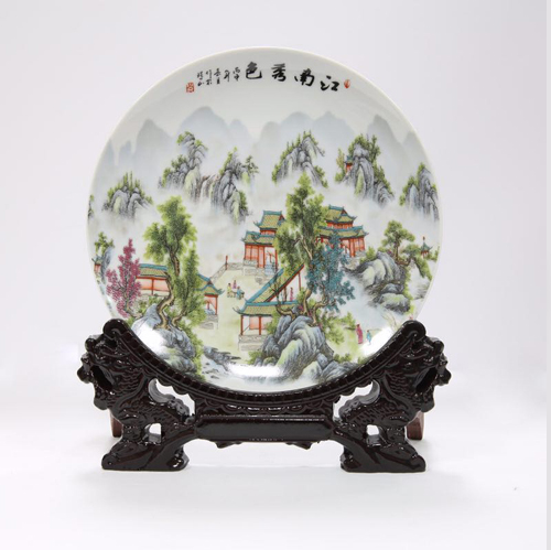 Ceramic Decorative Plate Set