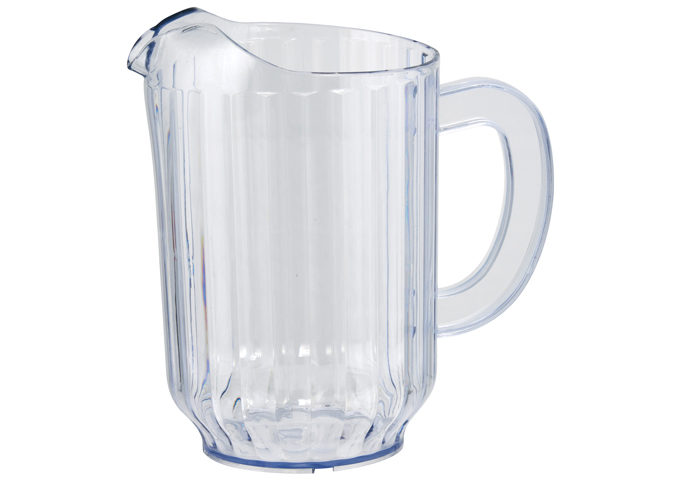 SAN Plastic Water Pitcher, Clear 4pcs/pk | White Stone