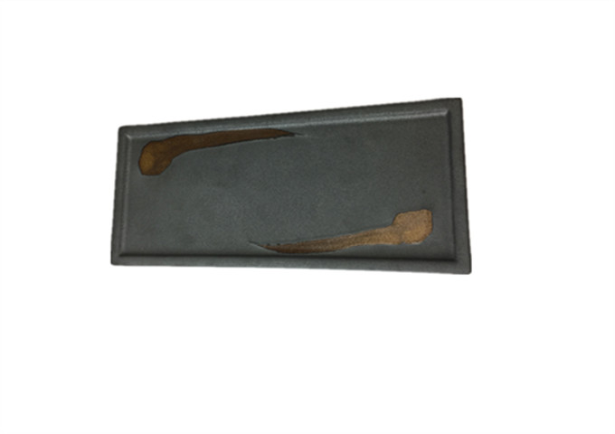 12'' X 5-1/2'' CERAMIC GREY FLAT PLATE | White Stone