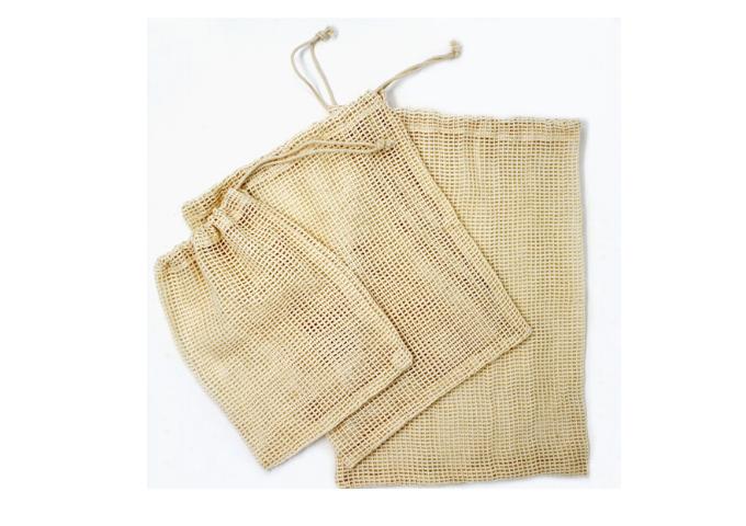 Danesco Cotton Mesh Produce Bags | White Stone