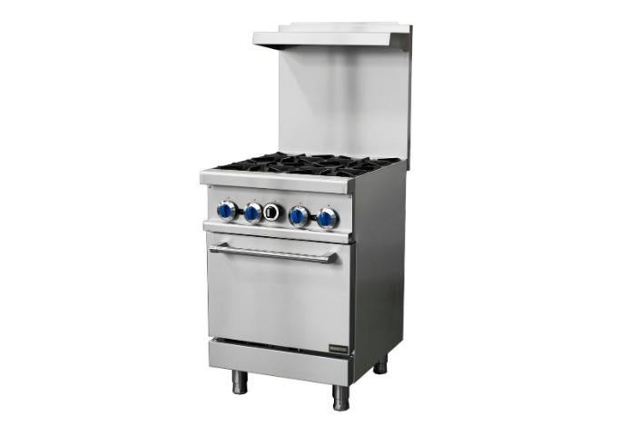 Manotick MT-R24 Natural Gas 4 Burner 24'' Range with Standard Oven -153,000 BTU | White Stone