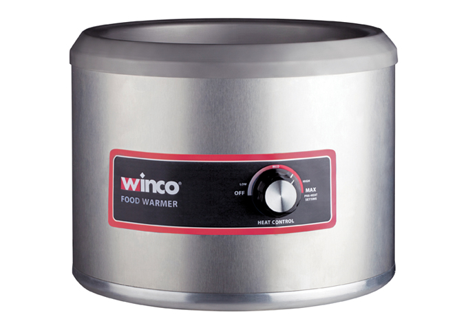 11 Quart Electric Round Food Warmer | White Stone