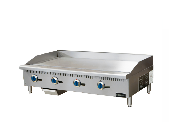 Manotick  48'' Gas Countertop Griddle with Manual Controls -120,000 BTU | White Stone