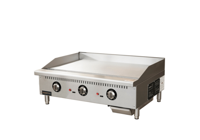 Manotick 36'' Gas Countertop Griddle with Thermostatic  Controls -120,000 BTU | White Stone