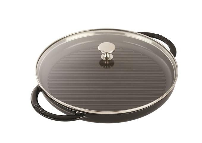 Staub Cast Iron Steam Grill 12″ - Black | White Stone