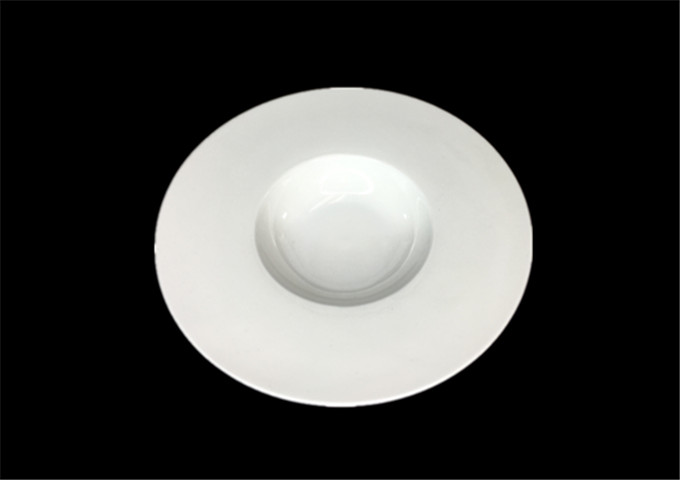 JLD 10'' Round White Soup Plate | White Stone
